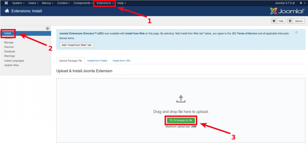 Joomla-extension-step-1