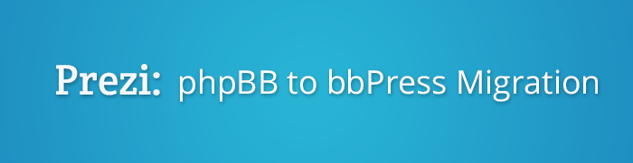 PhpBB to bbPress