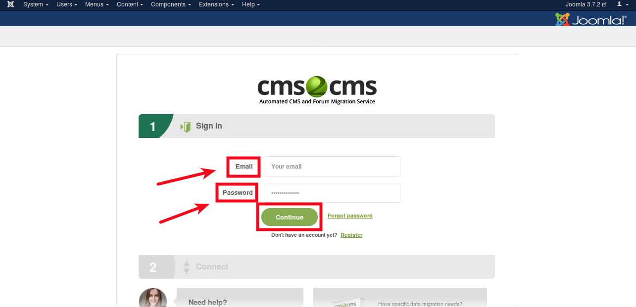 login-to-cms2cms-account