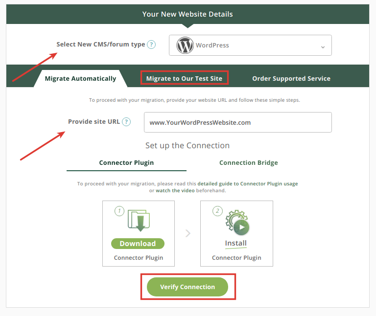 WordPress details