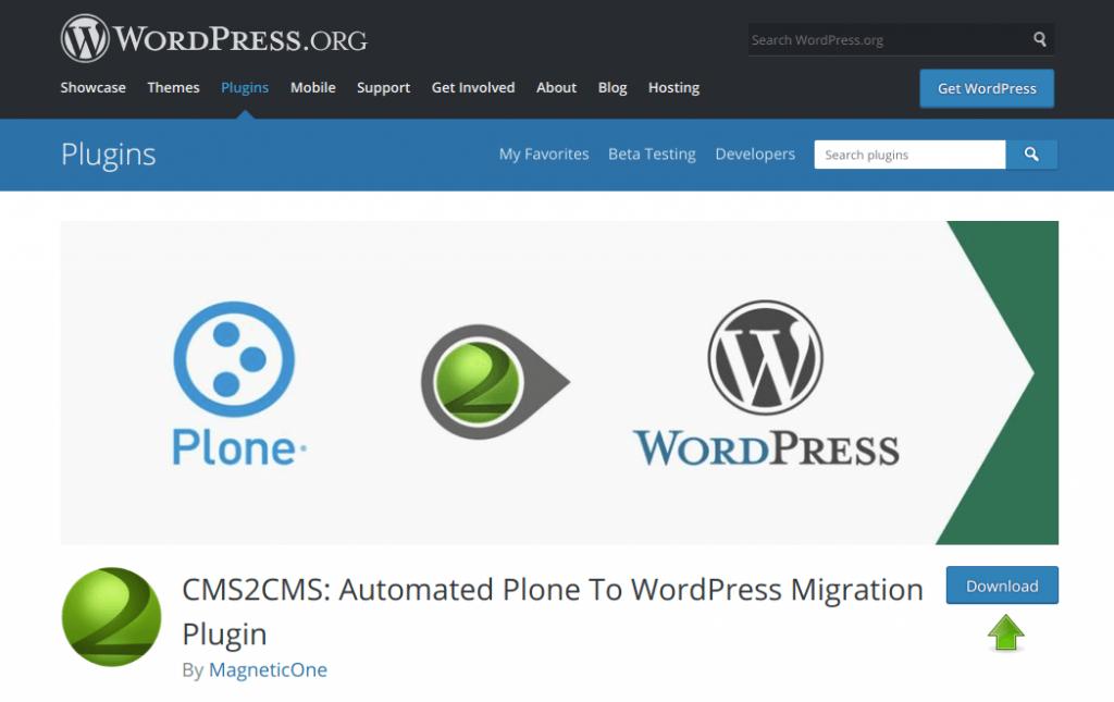 Plone to WordPress