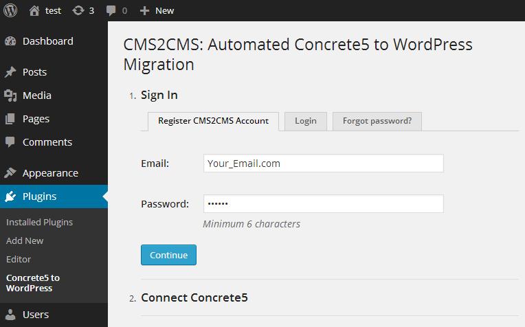 create-cms2cms-account