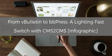 From vBulletin to bbPress. A Lighting Fast Switch with CMS2CMS [Infographic]