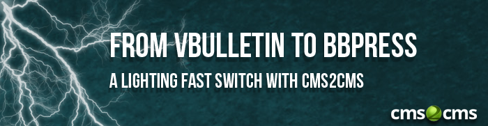 From vBulletin to bbPress A Lighting Fast Switch with CMS2CMS [Infographic]