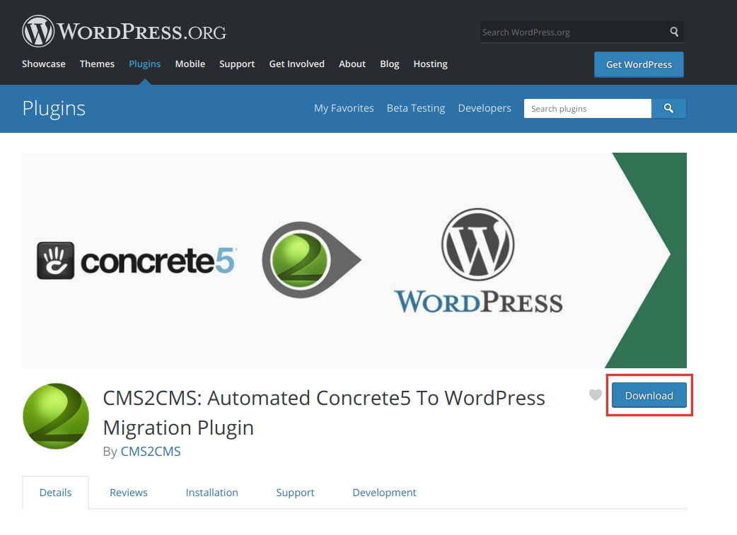 concrete5 to wordpress