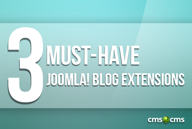 3 must have joomla extensions