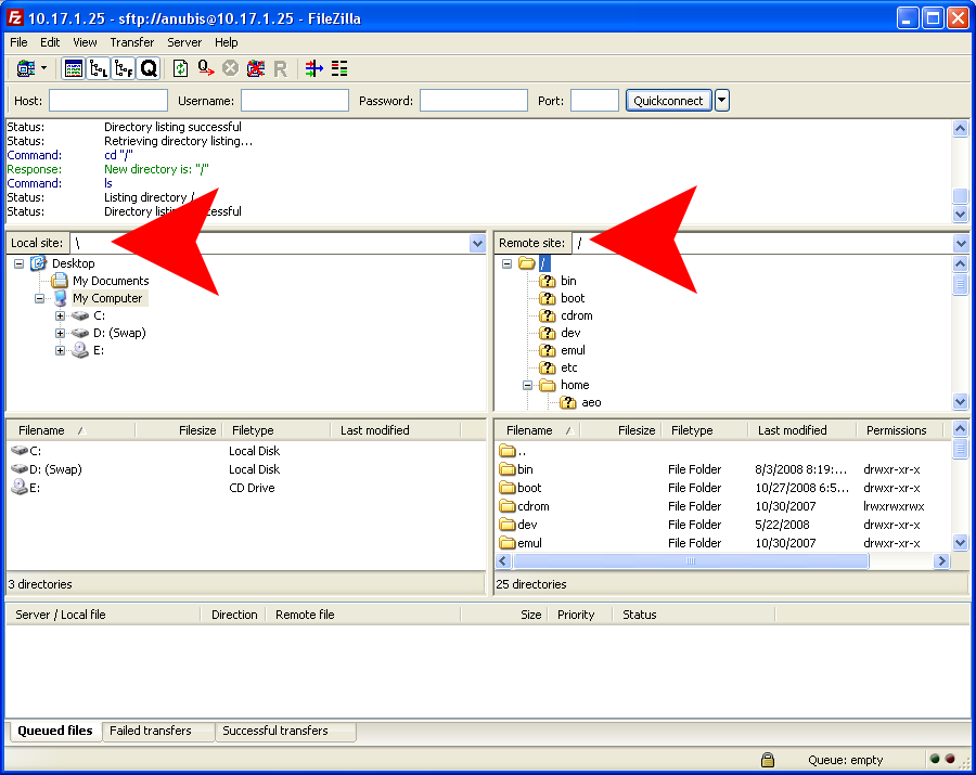 How to migrate with SFTP in FileZilla? - CMS2CMS