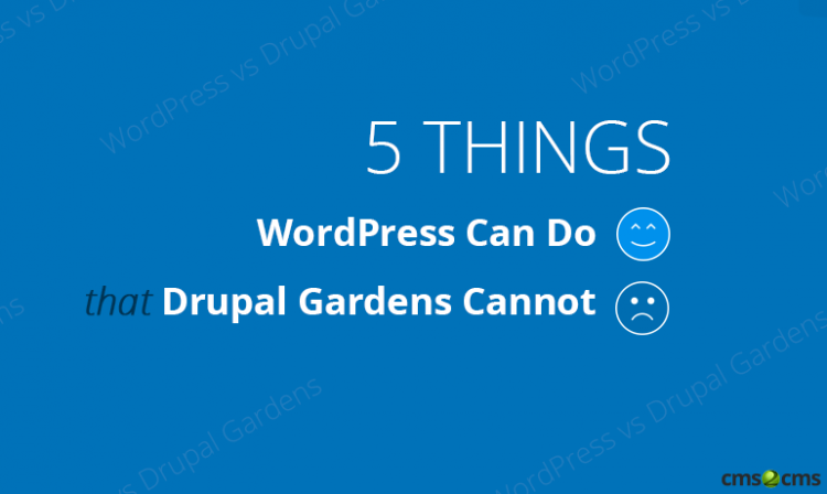 5 Things WordPress Can Do that Drupal Gardens Cannot Video