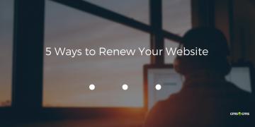 5 Ways to Renew Your Website