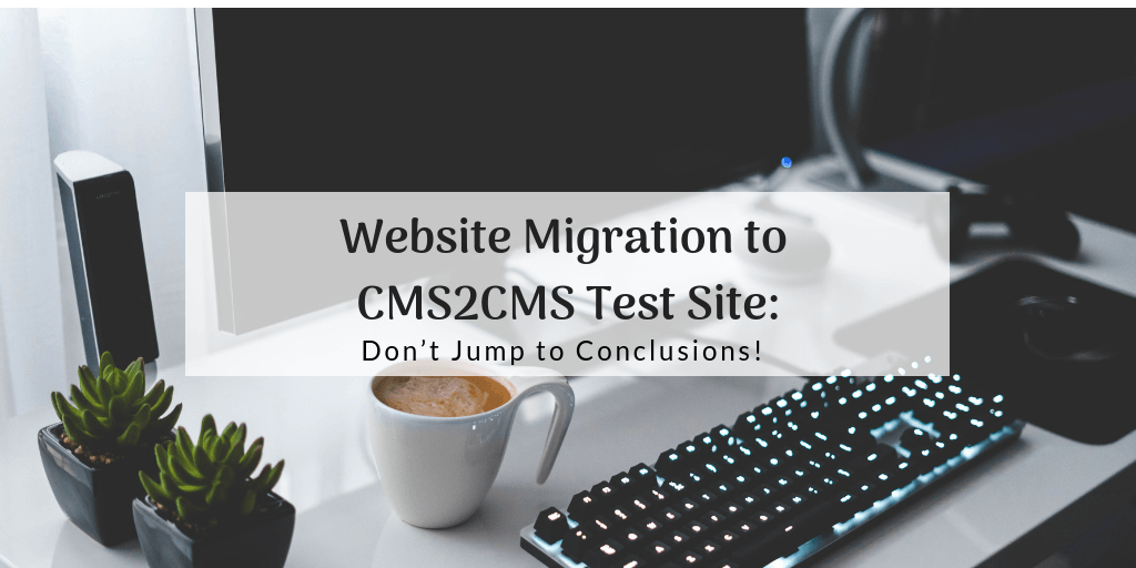 migrate to test site