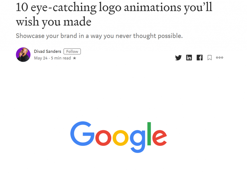 logo animation examples