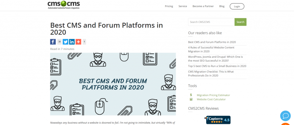 best CMS and forums in 2020