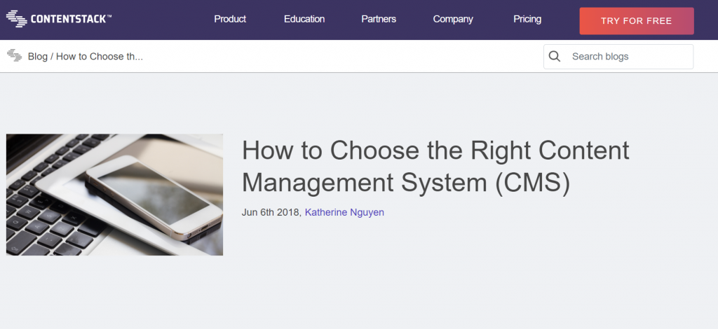 how to choose a right cms